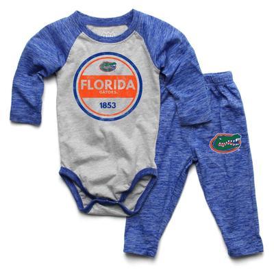 Florida Infant Cloudy Yarn Long Sleeve Onesie Set