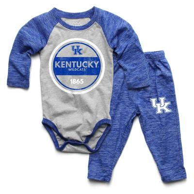Kentucky Infant Cloudy Yarn Long Sleeve Onesie Set