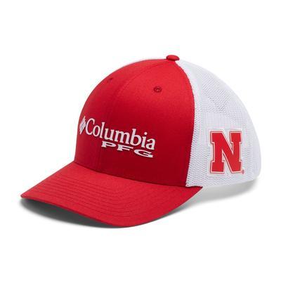 Nebraska Columbia PFG Mesh Snapback Hat