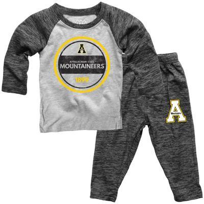 Appalachian State Toddler Cloudy Yarn Long Sleeve Set