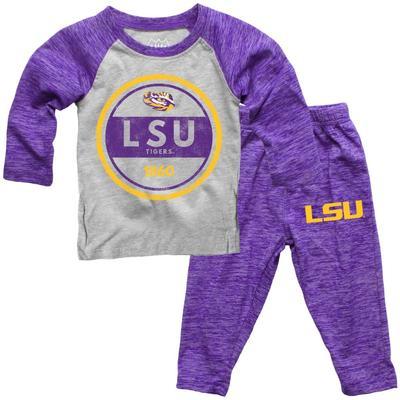 LSU Toddler Cloudy Yarn Long Sleeve Set