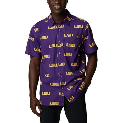 LSU Columbia Men's Super Slack Tide Printed Shirt