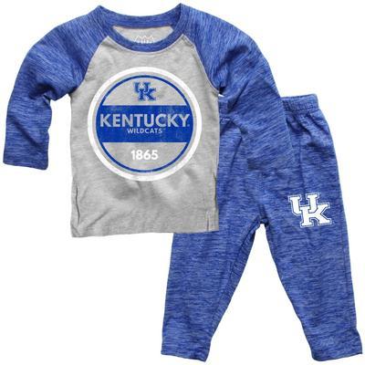 Kentucky Toddler Cloudy Yarn Long Sleeve Set