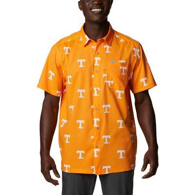 Tennessee Columbia Men's Super Slack Tide Printed Shirt