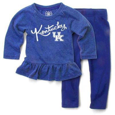 Kentucky Infant Long Sleeve Ruffle Hem Set