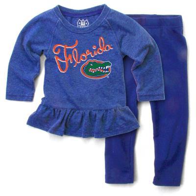 Florida Infant Long Sleeve Ruffle Hem Set