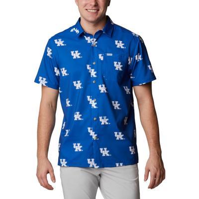 Kentucky Columbia Men's Super Slack Tide Printed Shirt