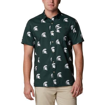 Michigan State Columbia Men's Super Slack Tide Printed Shirt