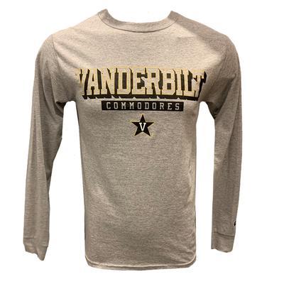 Vanderbilt Champion Stack Long Sleeve Tee