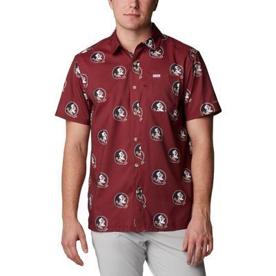 Florida State Columbia Men's Super Slack Tide Printed Shirt
