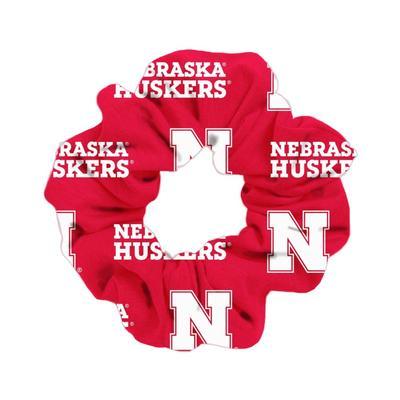 Nebraska Cornhuskers Wide Spirit Scrunchie