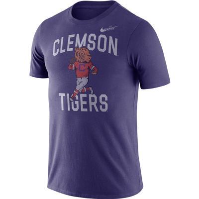 Clemson Nike Triblend Old School Mascot Tee