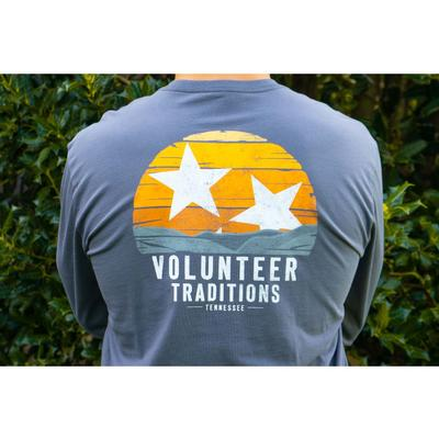 Volunteer Traditions Smokies Tri-Star Long Sleeve Pocket Tee
