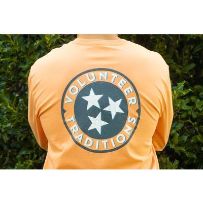 Volunteer Traditions Orange Tri-Star Long Sleeve Pocket Tee