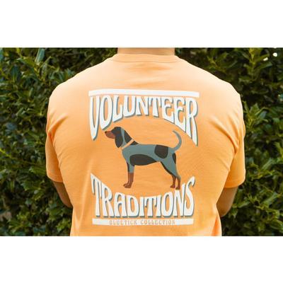Tennessee Volunteer Traditions Wavy Bluetick Short Sleeve Pocket Tee