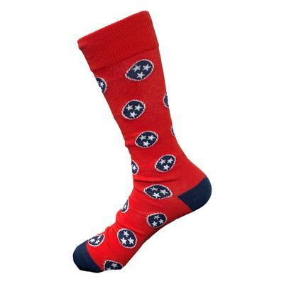 Volunteer Traditions Red Tri-Star Socks