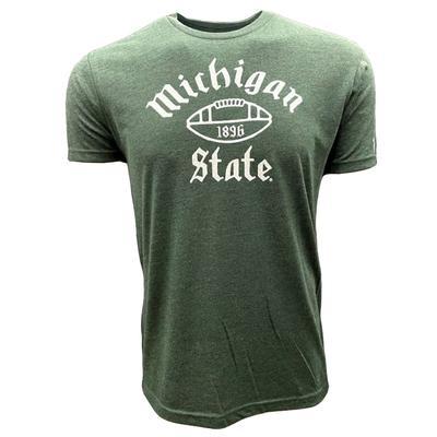 Michigan State Mitten 1896 Football Short Sleeve Tee