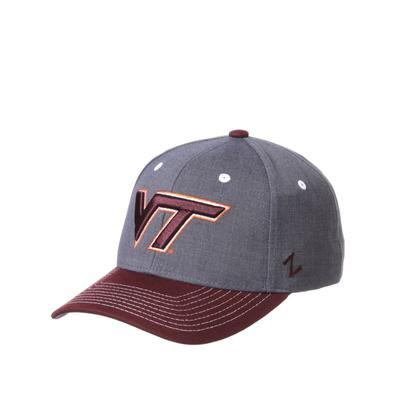 Virginia Tech Zephyr Cedar Two Tone Adjustable Hat