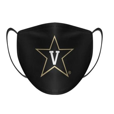 Vanderbilt Rock Em Solid LogoFace Mask