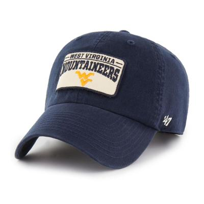 West Virginia 47' Brand Clean Up Patch Adjustable Hat