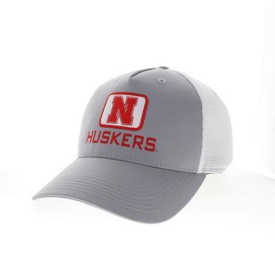 Nebraska Legacy Square Patch Trucker Hat
