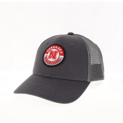 Nebraska Legacy YOUTH Road Patch Trucker Hat