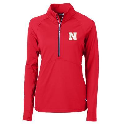 Nebraska Cutter & Buck Adapt Eco Half Zip Pullover