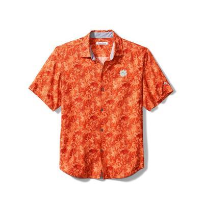 Clemson Tommy Bahama Men's Jungle Shade Silk Camp Shirt