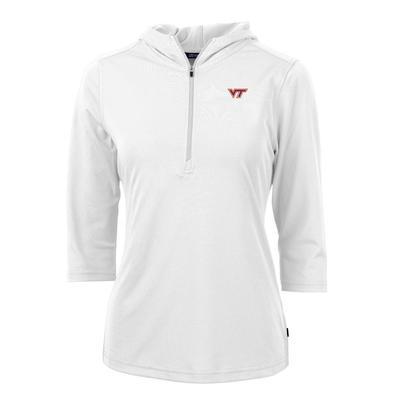 Virginia Tech Cutter & Buck Virtue Ecopique Half Zip Hoodie