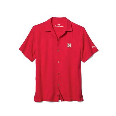 Nebraska Tommy Bahama Al Tropics Fresco Jacquard Silk Camp Shirt