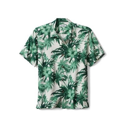 Michigan State Tommy Bahama Harbor Island Hibiscus Silk Camp Shirt
