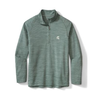 Michigan State Tommy Bahama Men's Play Action Half Zip Pullover