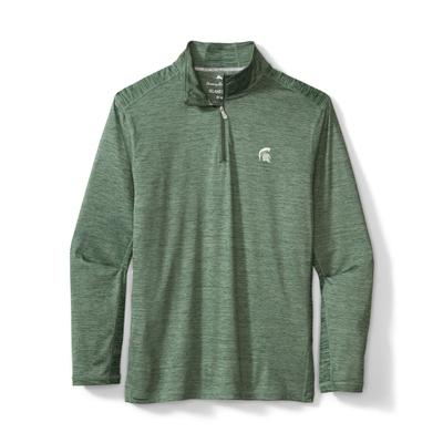 Michigan State Tommy Bahama Delray Half Zip Pullover