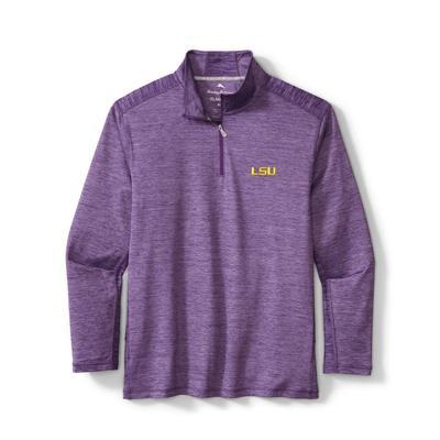 LSU Tommy Bahama Delray Half Zip Pullover