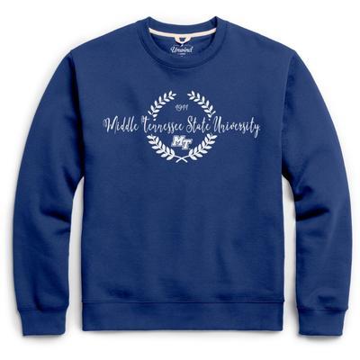MTSU League Fleece Laurels Pullover