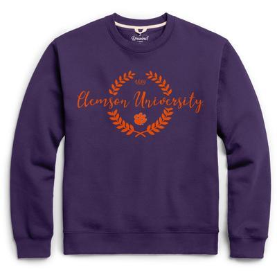 Clemson League Fleece Laurels Pullover