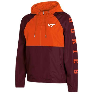 Virginia Tech Champion Women's Color Blocked Packable Jacket