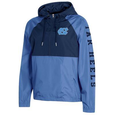 UNC Champion Women's Color Blocked Packable Jacket