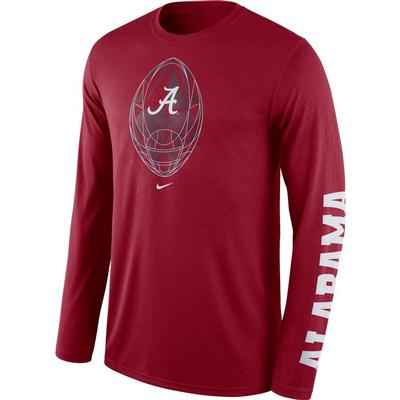 Alabama Nike Men's Legend Football Icon Long Sleeve Tee