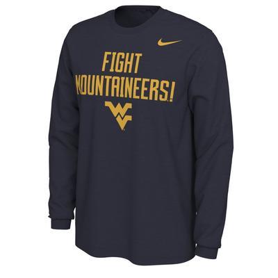 West Virginia Nike Men's Mantra Long Sleeve Tee