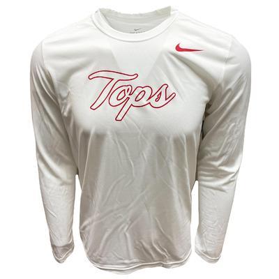 Western Kentucky Nike Dri-FIT Script Tops Logo Long Sleeve Tee - White