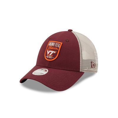 Virginia Tech New Era Women's Retro State Patch Trucker Hat