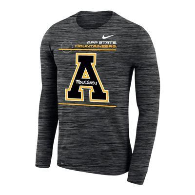 Appalachian State Nike Velocity Legend Long Sleeve Tee - Black