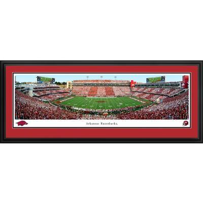 Donald W Reynolds Razorback Stadium Panorama Deluxe Framed Print
