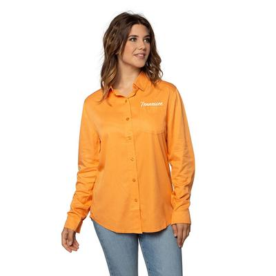 Tennessee University Girl Utility Button Up Shirt