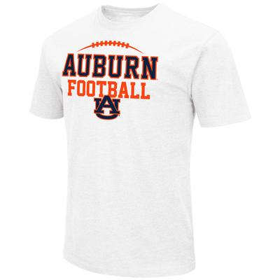 Auburn Colosseum Laces Over Stack with Logo Short Sleeve Tee