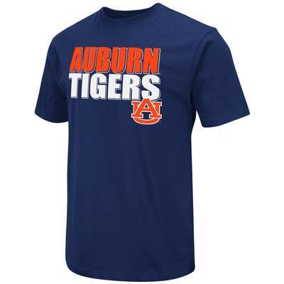 Auburn Colosseum Team Stack Over Logo Short Sleeve Tee