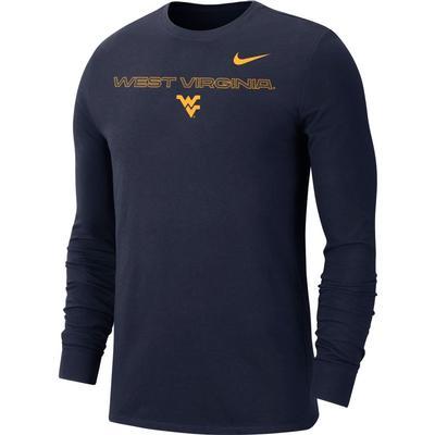 West Virginia Nike Men's Team Issue Long Sleeve Tee
