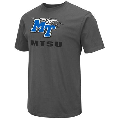 MTSU Colosseum Big Logo Over School Short Sleeve Tee