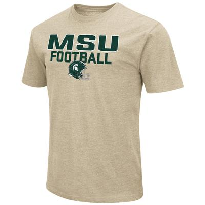 Michigan State Colosseum Team Football Stack Over Logo Short Sleeve Tee